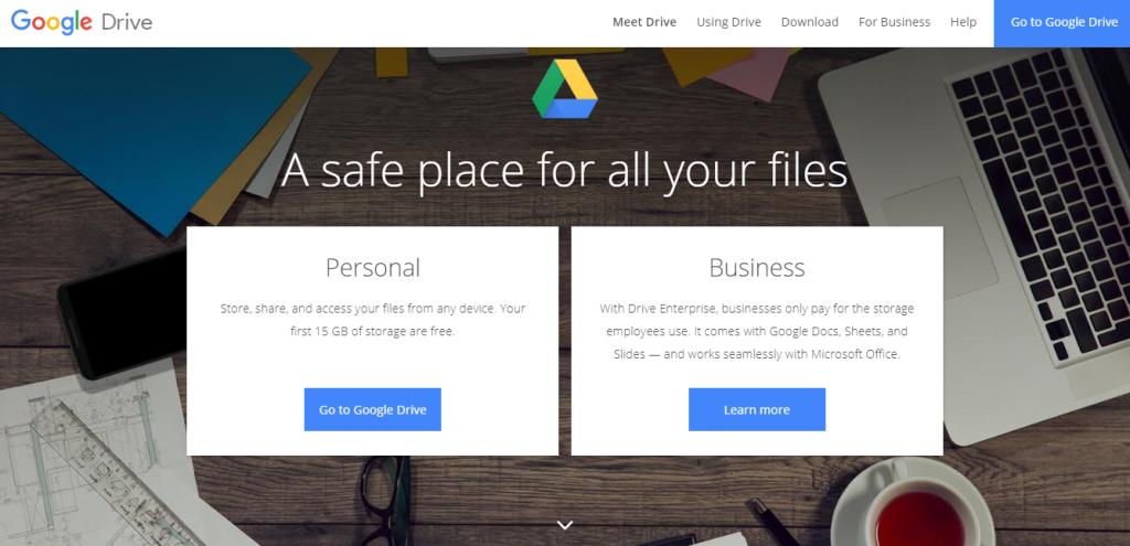 Google drive file hosting