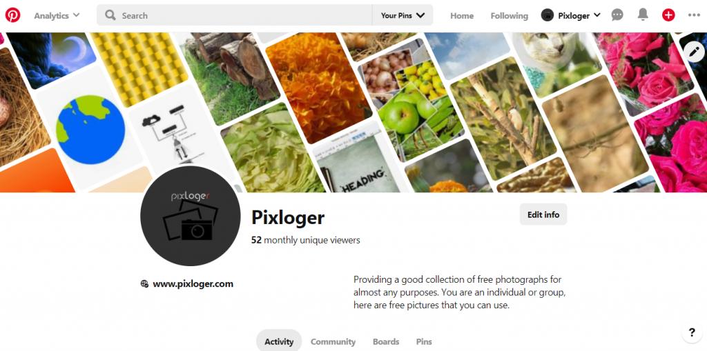 Pinterest image sharing community