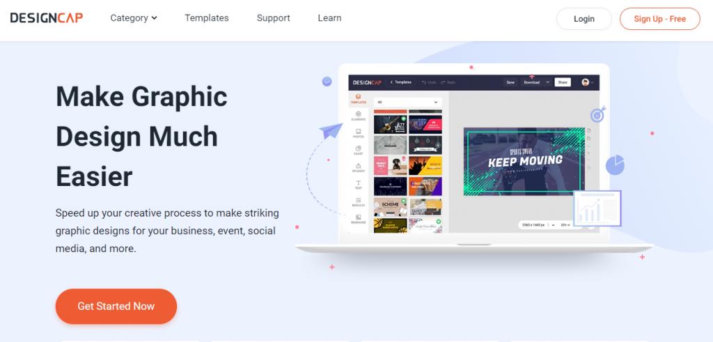 DesignCap online graphic designer
