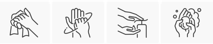 coronavirus icon hand icons