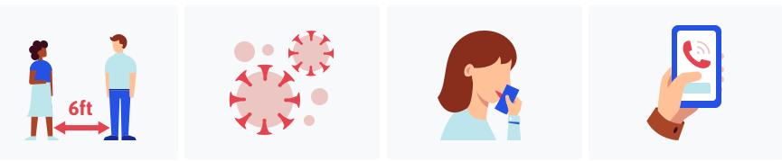 coronavirus information icon