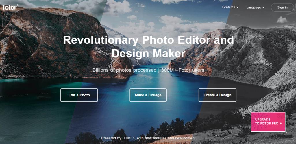 Fotor online graphic designer