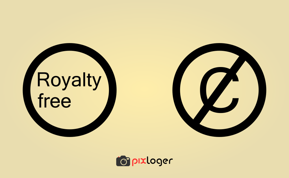 Royalty free vs Copyright free signs